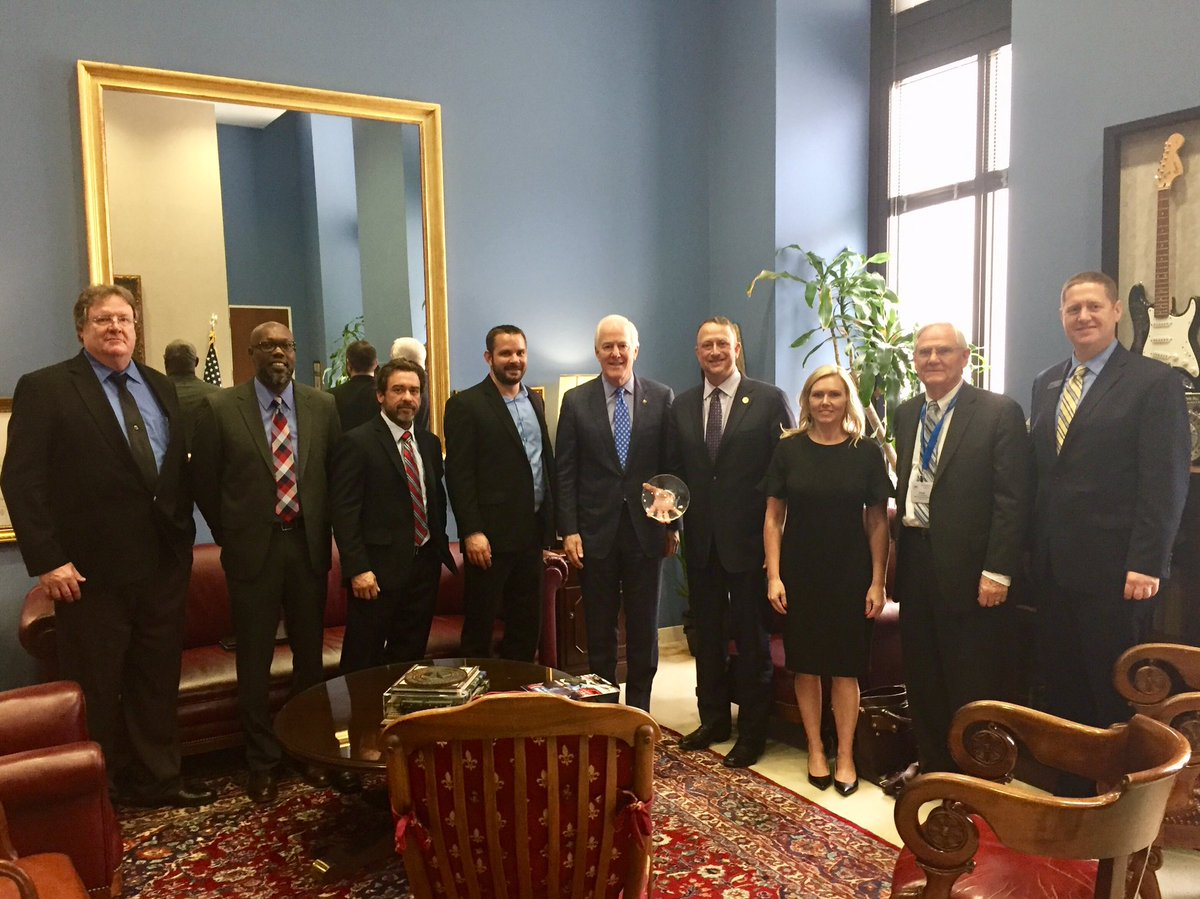 Group photo with Cornyn