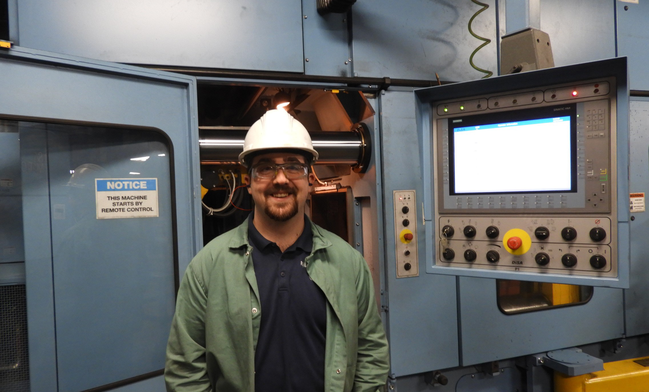 Nick Verdolivo, manager trainee, Rochester Metal Products, Rochester, Indiana