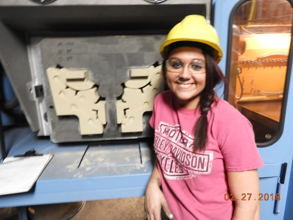 """I chose metalcasting as a career because every job is interesting, I love the people and it's a fun place to work."""