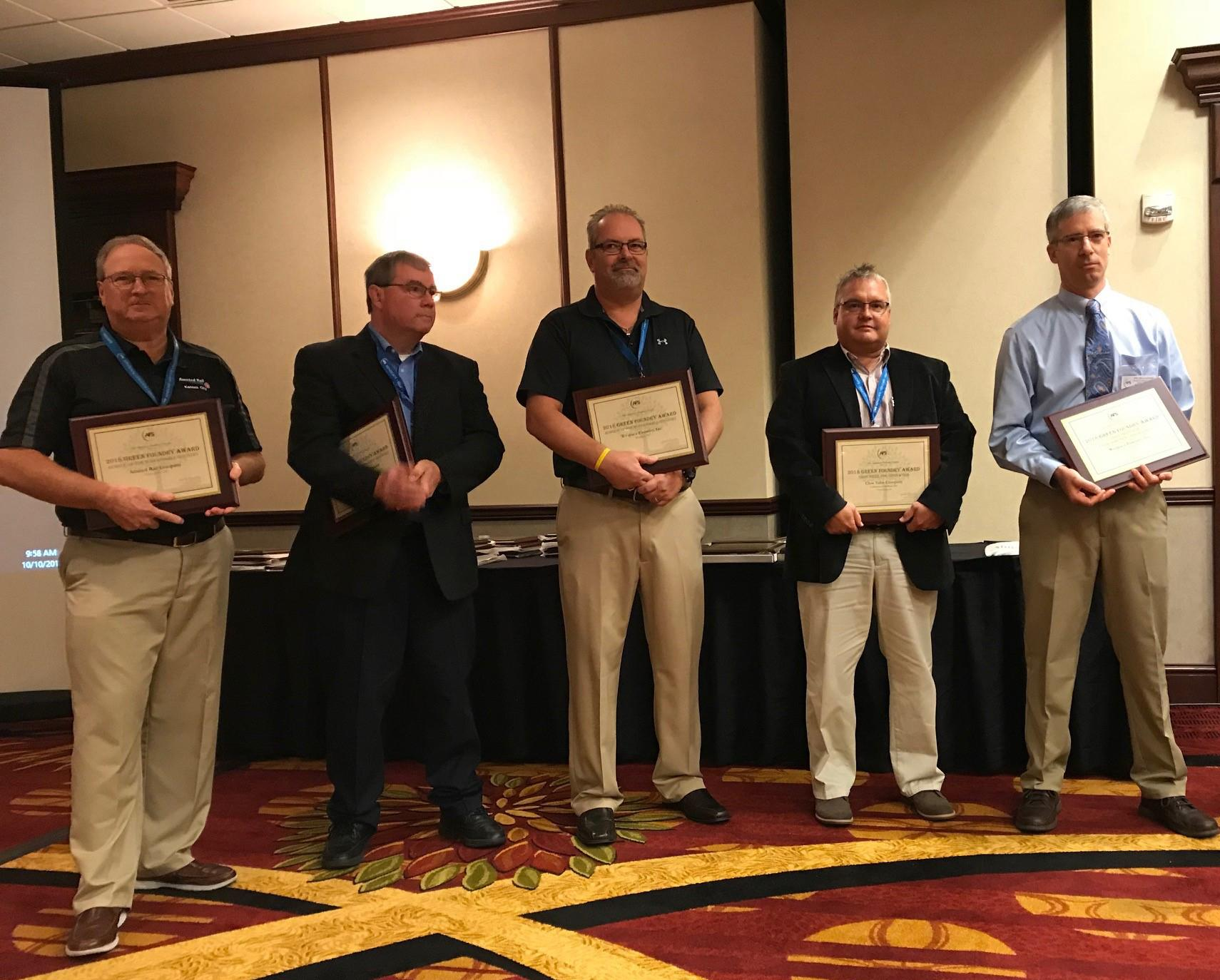 Inaugural Green Foundry Case Study Award winners at the 30th AFS EHS Conference