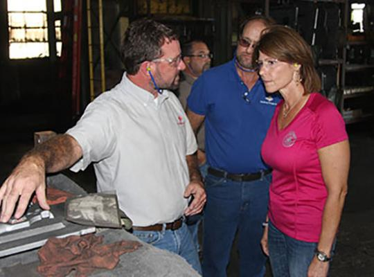 Galesburg Castings, Inc. Hosted Representative Cheri Bustos (D-Illinois) for a Plant Tour