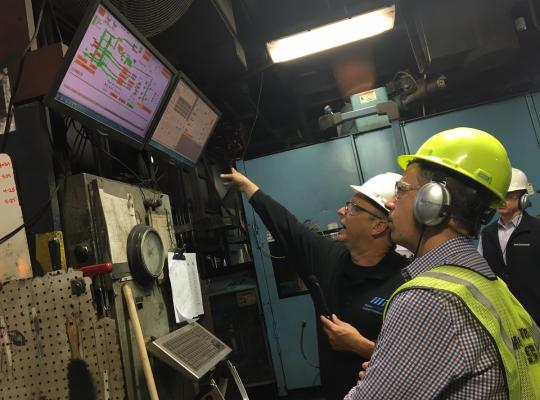U.S. Congressman Jim Banks tours AFS Corporate Member Metal Technologies.